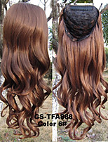 3/4 Half Wig Heat Resistant Synthetic Wig Hair 200g 24