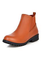 Zapatos de mujer - Tacón Robusto - Botines / Punta Redonda - Botas - Vestido - Semicuero - Negro / Amarillo