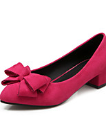 Women's Shoes Velvet Chunky Heel Comfort Pointed Toe Pumps Party and Dress More Colors available