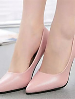 Women's Shoes Stiletto Heel Pointed Toe Pumps/Heels Dress Pink/White/Silver