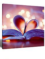 arte visual star® decoración de la pared moderna pared libro lona para sala de estudio listo para colgar