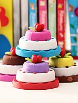 Exquisite Cake Shaped Eraser Stationeries Student Rubber Gift (Random Color)