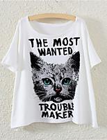 XIXI Women's  Fashion Summer 3D cat T Shirt(Cotton Blends)