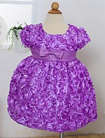 Girl's Polyester Dress , All Seasons Sleeveless