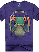 3D Printing Round Neck Short-sleeve Cotton T-Shirt