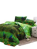Green Polyester King Duvet Cover Sets