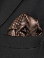 Men's Business Dots Camel Silk Pocket Square