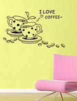 Wall Stickers Wall Decals Style I Like Coffee English Words & Quotes PVC Wall Stickers