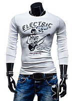 Men's Long Sleeve T-Shirt , Cotton Casual/Plus Sizes Print