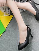 Women's Shoes Stiletto Heel Pointed Toe Pumps/Dress Black/Beige