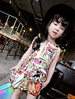 Cartoon Flower Princess Sleeveless Dress
