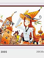 pittura a olio digitale fai da te con una solida cornice di legno famiglia pittura divertimento tutto da solo il girl3005 Castello