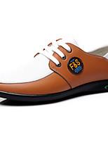Men's Shoes Outdoor/Office & Career Leather Oxfords Blue/Orange