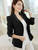 Kath ® Women's New Fashion European Long Sleeve Solid Color Blazer