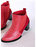 Women's Shoes Chunky Heel Bootie/Combat Boots/Pointed Toe Boots Wedding Red