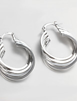 2015 Italy Style Silver Plated Africa Design Twist Hoop Earrings
