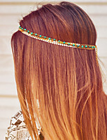 Women Bohemian Simple Alloy Head Chain With Casual/Outdoor Headpiece Gold