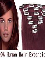 3 set 22inch 7pcs / set 70g clip-in hair remy human hair extensions 17 kleuren voor vrouwen schoonheid