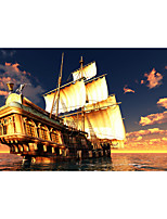 Prints Poster Sunrise Sailing Art Picture Pictures Print On Canvas  1pcs/set (Without Frame)