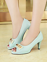 Women's Shoes  Stiletto Heel Peep Toe Sandals Office & Career/Dress Blue/Pink/White/Beige