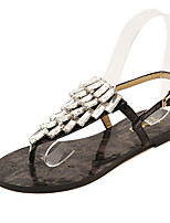 Women's Shoes Flat Heel Round Toe Sandals Casual Black/Silver