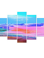 VISUAL STAR®Abstract Pink 5 Pieces Group Oil painting Stretched Canvas Art Ready to Hang