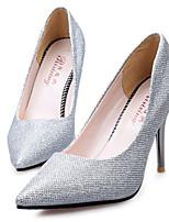Women's Shoes Faux Leather Stiletto Heel Heels Pumps/Heels Office & Career/Dress Black/Purple/Silver/Gold