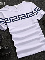 In summer 2015 slim cotton half sleeve size mens fashion men's casual T-shirt youth summer clothes