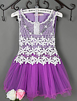 Girl's Cotton/Lace/Mesh/Polyester Dress , Summer/Spring/Fall Sleeveless