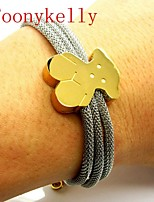 Toonykelly® Cute Animal Bear Fashionable Gold Silver Cuff Bracelet Bangle(1PC)