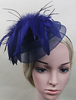 Women Fabric Headband , Party Mesh / Feather Headpiece