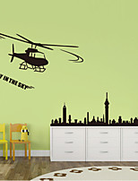 Wall Stickers Wall Decals Style Cartoon Plane PVC Wall Stickers