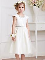 Girl's Summer Micro-elastic Medium Short Sleeve Dress (Polyester)