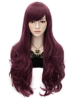 70cm Long Wavy Anime Cosplay Party Women Lady Sexy Harajuku Wig Long Party wigs Magenta