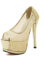 Women's Shoes Tulle Stiletto Heel Peep Toe Pumps Dress More Colors available