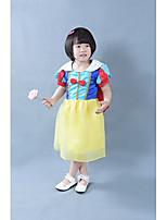Girls' Summer Dresses Short Sleeve Snow White Design Roll Play Dresses with Cloak (Cotton)