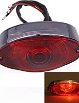 Motorcycle Motorbike LED Tail Rear Light DC 12V Red Cats Eye (1 Pc)