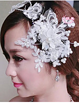 Korean High-grade Pearl White Rhinestone Headdress Hairpin Top Bride