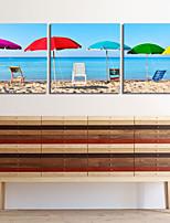 visuell star®seascape triptyk duk vägg konst uppsättning av 3 hög kvalitet duk redo att hänga