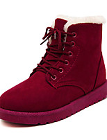 Women's Shoes Flat Heel Bootie/Round Toe Boots Casual Blue/Red/Burgundy
