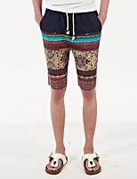 Men's Shorts , Casual Print Cotton