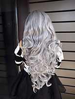 80cm 280g 2015 Hot Sale Long Curly Cosplay Wigs Anime Synthetic Wigs Cosplay,Party Cheap Hair Wigs White Peruca