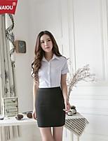OUNAIOU®Women's Turn-Down Collar Professional Shirt Suit(Shirt&Skirts)