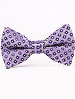 Purple Squares Men Bow Ties