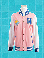 Free! Hazuki Zhu Pink Cotton Coat Cosplay Costumes