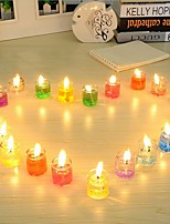 24-Piece Votive Tealight and Tealight Holder Set Wedding Party Favors (Random Color)