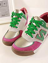 Scarpe Donna Sintetico Kitten Plateau/Punta arrotondata Sneakers alla moda Casual Blu/Rosa