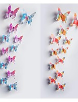 12pcs 3D Butterfly Wall Stickers Art Decals