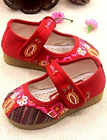 Girls' Shoes Outdoor/Party & Evening/Dress/Casual Mary Jane/Comfort/Round Toe Canvas Flats Red
