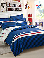 Blue Cotton King Duvet Cover Sets